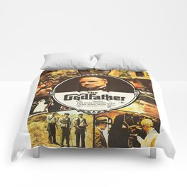 The Godfather, vintage movie poster Comforters