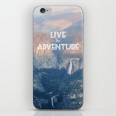 Live for Adventure  iPhone & iPod Skin