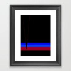 sunset stripe Framed Art Print