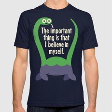 Myth Understood LARGE Navy Mens Fitted Tee