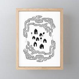 Line Vine Border Community Illustration Framed Mini Art Print