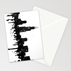 Watercolor Chicago Skyline Stationery Cards