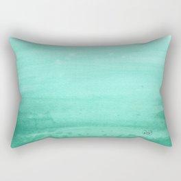 Ombre Robins Egg Rectangular Pillow