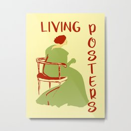 Living posters minimalist art nouveau Metal Print