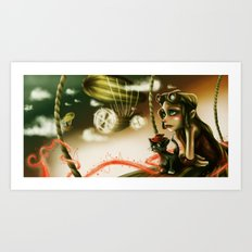 Steampunk Flight Art Print