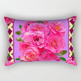PANTENE ULTRA VIOLET PURPLE  PINK GARDEN ROSES Rectangular Pillow