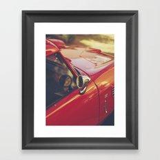 Fine art print, red supercar details, high quality photo, deep of field, macro, triumph spitfire Framed Art Print