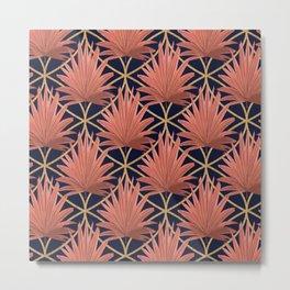 Deco Ferns Metal Print