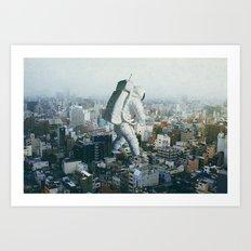 Stepping On Art Print
