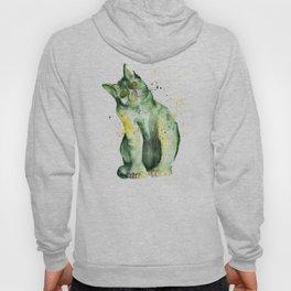 Green Cat Hoody