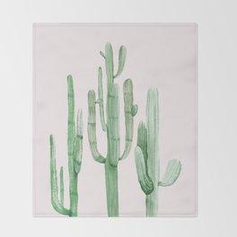 Three Amigos Pink + Green Throw Blanket