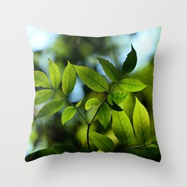 Leaves in Nature Throw Pillow