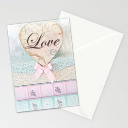 Love Heart Books Stationery Cards