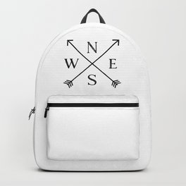 Black and White Compass Backpack