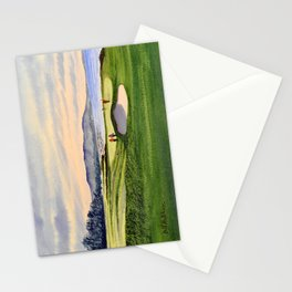 Pebble Beach Golf Course 9th Green Stationery Cards