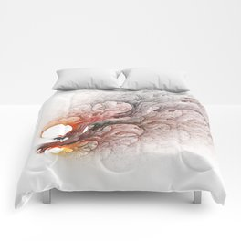 Burning Flames Fractal Comforters