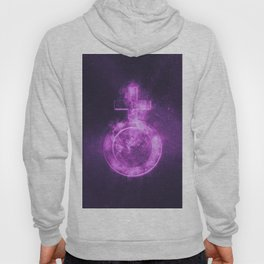 Planet Earth Symbol. Earth sign. Abstract night sky background. Hoody