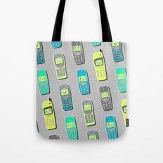 Vintage Cellphone Pattern Tote Bag
