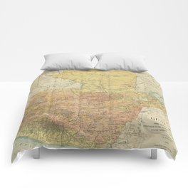 Vintage Map of Guatemala (1902) Comforters