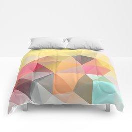 Polygon print bright colors Comforters