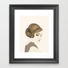 María Valverde Framed Art Print