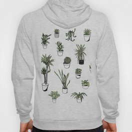 Plant Wall Succulent Pattern Hoody