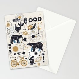 Fantastic astrology nordic style Stationery Cards