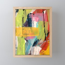 Hopeful[2] - a bright mixed media abstract piece Framed Mini Art Print