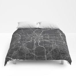 Dortmund Map, Germany - Gray Comforters