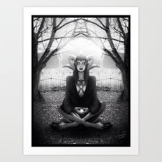 Meditate 2 Art Print