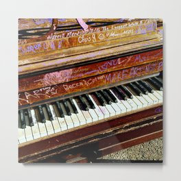 Graffiti piano Metal Print