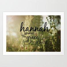 Hannah grace Art Print