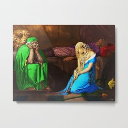 Belisane & Parcival under the Enchantment of Urma Portrait by Jeanpaul Ferro Metal Print