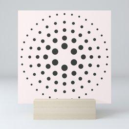 MidCentury Modern Bubblegum Spiral Dots Mini Art Print