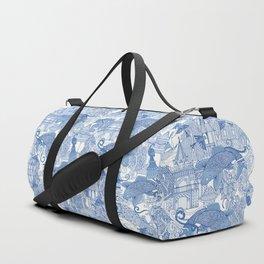 chinoiserie toile blue Duffle Bag