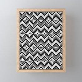 Geometric Black & White Framed Mini Art Print