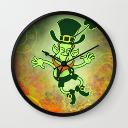 Leprechaun Clapping Feet Wall Clock