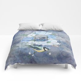 Skull And Butterfly Comforters
