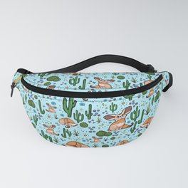 Cute Desert and Fennec Fox Pattern Fanny Pack