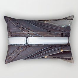 Chicago El Train Going Downtown Rectangular Pillow
