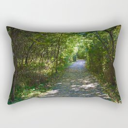 Mt Robson as seen from Kinney lake in the Canadian Rockies Rectangular Pillow