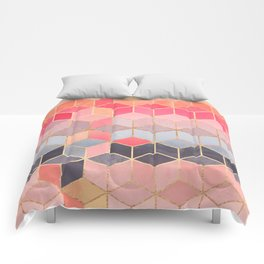 Happy Cubes Comforters