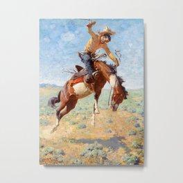 "William Leigh Western Art ""Bucking Bronco"" Metal Print"