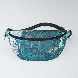Crescendo: A vibrant abstract painting in blues and white by Alyssa Hamilton Art Fanny Pack