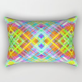 Colorful digital art splashing G71 Rectangular Pillow