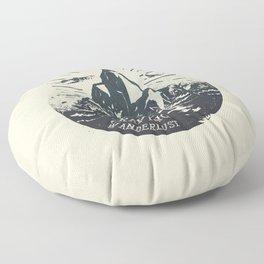 Craving wanderlust III Floor Pillow
