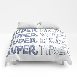 Super Biking Mom Comforters