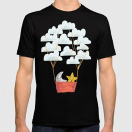 Hot cloud baloon - moon and star T-shirt