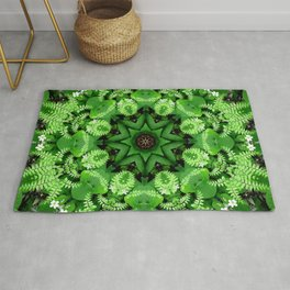 Fern and friends kaleidoscope, mandala - Maidenhair, Adiantum 901 k21 3 Rug