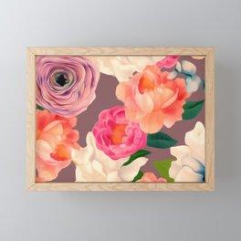 Peachy BLOOMS Framed Mini Art Print